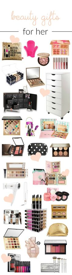 Can I have one of each please?! | | Beauty blogger Mash Elle shares the best beauty gift ideas for her for birthdays, anniversaries and Christmas! Featuring Urban Decay, Sephora, tarte, hourglass, too faced, laura mercier, laura geller beauty, LORAC, MAC, Kat Von D, It Cosmetics, Charlotte Tilbury etc!