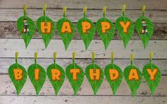 INSTANT DOWNLOAD Tree Fu Tom Printable Birthday Party Bunting, Flags, Banner, Digital PDF File for Tree Fu Tom Party Theme