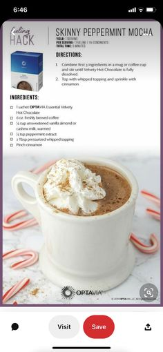 Lean Protein Meals, Protein Foods, Yummy Appetizers, Appetizer Recipes, Optimal Weight 5&1 Plan, Skinny Peppermint Mocha, Lean And Green Meals, Chocolate Shake, Greens Recipe