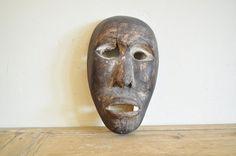 Antique Indonesian Mask Vintage Wooden Mask by StrangeImportsLLC