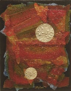 This is one of my open metal collages, called Halcyon Days. To see more of my work go to www.GallerieLulu.com