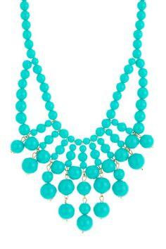 t+j Designs Beaded Fringe Bib Necklace by t+j Designs on @HauteLook