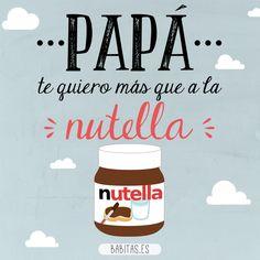 ¡Feliz Día del Padre! #DiaDelPadre #Padre #Father #Nutella #ilustracion #cartel