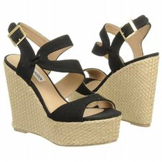 Jenny in Black Fabric  Shoes.com