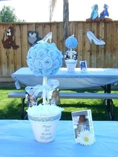 Cinderella Centerpieces Baldwin Crooks What do you think of some of these? Cinderella Sweet 16, Cinderella Baby Shower, Cinderella Theme, Cinderella Birthday, Cinderella Wedding, Princess Birthday, Cinderella Party Decorations, Cinderella Centerpiece, 16th Birthday Decorations