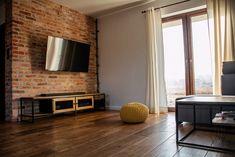 Szafka RTV APRIL-industrialna komoda z metalu i drewna Curtains, Metal, Interior, Industrial, Magic, Home Decor, Bedroom Closets, Yurts, Furniture