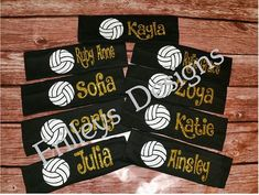 Headbands Volleyball Team Sports by FrilleysDesigns on Etsy