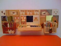 Balcón interior a tu escritorio. Para ordenar las pinturas mientras trabajas.
