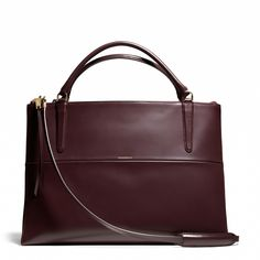 Coach :: THE LARGE BOROUGH BAG IN POLISHED CALFSKIN
