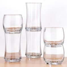 Cost Plus World Market Stackable Glasses. $6 for set of 4. These are perfect for a kitchen with not a lot of cupboard space!