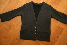 K-Line: Finished Object: Jenna Cardigan - V Neck Sewing Ideas, Line, It Is Finished, V Neck, Fashion Outfits, Sweaters, Inspiration, Clothes, Style