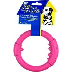 Tough By Nature Big Mouth Rings Natural Rubber Dog Toy For Large Dogs Single Blast