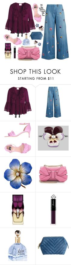 """Ruffles"" by bysc ❤ liked on Polyvore featuring Cinq à Sept, Christopher Kane, Boutique Moschino, Valentino, Christian Louboutin, Guerlain and H&M"