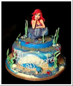 Ariel and  seahorse Birthday Cake Topper | ... beautiful handmade cake toppers i ve ever seen the figure of ariel on