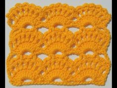 Crochet: Punto Abanico # 14 - YouTube