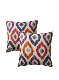 Colorfly by Belle Masion Set of 2 Aura Pillows, Prism