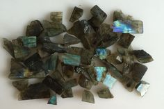 454CT NATURAL LABRADORITE ROUGH SLICE GEMS FLASHY LOOSE LOT RAW MINERAL SPECIMEN #ROUNDSNROSES