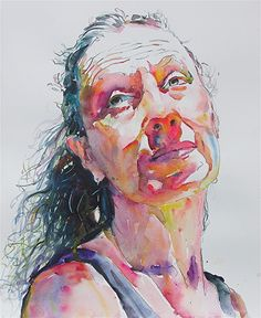 Remembrance- retired ballarina by David Lobenberg Watercolor ~ 22 inches x 15 inches