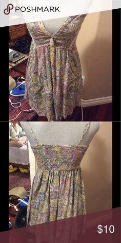 Billabong boho dress Cute Billabong sun dress buttons at breast line lace accents. Billabong Dresses Mini