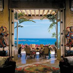 Brides.com: 47 Sexiest Hotels. Sexiest Billiards Four Seasons Resort Lanai at Manele Bay, Hawaii   You come to Hawaii for the sand and the surf—but you can't wear your swimsuit all day and night, now, can you? This hotel has the perfect antidote for pruney fingers and waterlogged ears: a pool table located in an open-air wood-paneled lounge that faces the frothy Pacific and the softly-lit palms. When the clouds set in, order Kona coffee—laced cocktails, chalk up a cue, and promise him ...