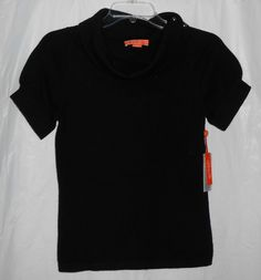 NEW CHRISTOPHER FISCHER CASHMERE Women Sz S Small Short Sleeve Sweater Black NWT #ChristopherFischer #CowlNeck - http://stores.ebay.com/vickysclothingandmore