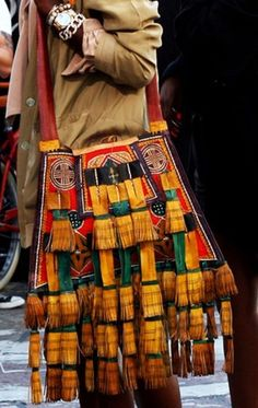 Ethnic bag from the Sahara. I wish I had this bag. It's magnificent!