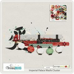 Quality DigiScrap Freebies: Imperial Palace Washi Cluster freebie from Dream Big Designs