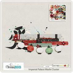 Quality DigiScrap Freebies: Imperial Palace Washi Cluster freebie from Dream Big Designs