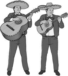 [ guitarron and vihuela (mariachi) ] plucked string instrument.