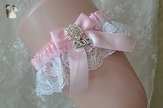 Pink And White Lace Garter With Charm 2017 - Bridal garters (*Amazon Partner-Link)