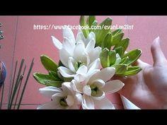 Hướng dẫn làm hoa mộc lan bằng giấy nhún - Magnolia Sieboldii paper flower - YouTube