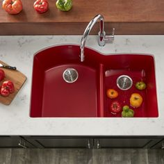 @directsinks posted to Instagram: Elkay's Quartz Luxe in Maraschino is a vibrant red that makes every day a celebration. Ready for your pop of color? Tap the link in our bio to shop now @directsinks #cherryred #seered #kitchensink #maraschino #maraschinocherry #elkay #quartzcomposite #composite #quartzsink #popofcolor #whitekitchen #HomeImprovement #HomeRenovation #KitchenDesign #HomeTips #HomeInspiration #kitcheninspo #kitchendecor #newkitchen #kitchenproject #kitchenreno #kitchenrenovatio Kitchen Reno, New Kitchen, Kitchen Design, Quartz Sink, Composite Sinks, Home Hacks, Home Renovation, Color Pop, Home Improvement