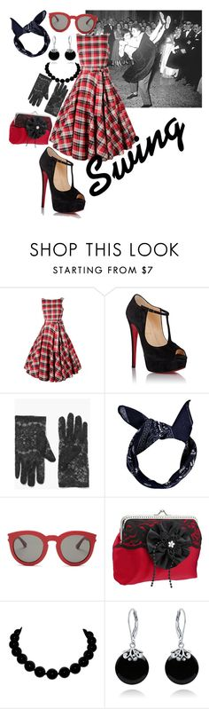 """""""swinging"""" by lara-dawson-1 ❤ liked on Polyvore featuring Chicnova Fashion, Christian Louboutin, Boohoo, Yves Saint Laurent and Bling Jewelry"""