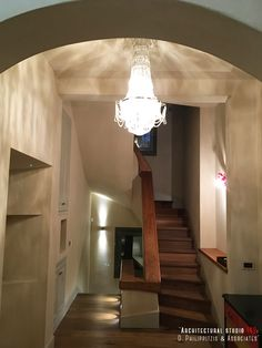 Details of a residential mansion _ wooden stairs