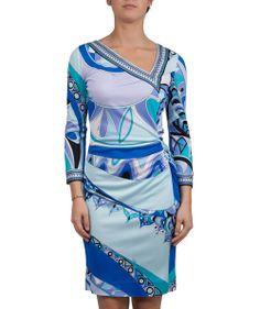 Groppetti Luxury Store - Abito Fantasia Scollo Asimmetrico - Emilio Pucci Spring Summer Collection 2014 #emiliopucci #woman #fashion