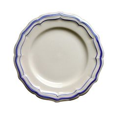 Gien France Filets Dinner Plate Home - Bloomingdale's White Dinner Plates, Dinner Plate Sets, Washing Dishes, Dish Sets, Blue Plates, Filets, White Clay, Deep Dish, Canapes