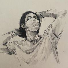 Kpop Drawings, Art Drawings For Kids, Art Drawings Sketches Simple, Pencil Art Drawings, Taehyung Fanart, Arte Sketchbook, Character Design Animation, Art Reference Poses, Aesthetic Art
