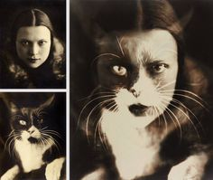 Io + Gatto (self-portrait) Photo: Wanda Wulz (1903 - 1984) Italy, 1932 Wanda Wulz was an Italian experimental photographer. One great example of her works is the self-portrait merged with a portrait of a cat. Wanda Wulz was born on 25 July 1903 in Trieste, Italy.