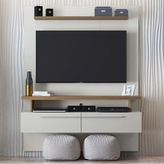 Bedroom Door Design, Bedroom Furniture Design, Home Room Design, Tv Unit Interior Design, Tv Wall Design, Dressing Table Mirror Design, Home Para Tv, Tv Unit Bedroom, Painel Home