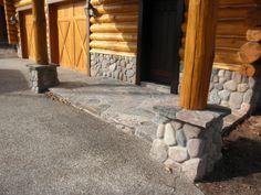 1000 images about front porch on pinterest river rocks for River rock columns