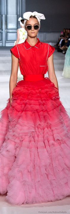 Giambattista Valli Haute Couture | F/W 2014   Maybe haute couture... but it's still ugly!!