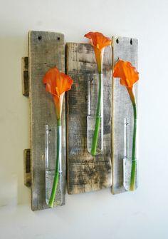 Glass Beaker Wall piece rustic decor glass by PineknobsAndCrickets