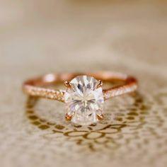 anillo de compromiso de 2 quilates. Ring.Rose de por SumuduniGems