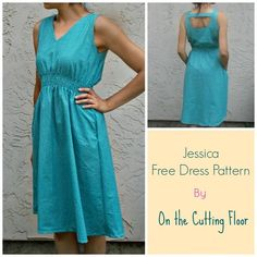 Jessica Dress - FREE SEWING PATTERNS AND TUTORIALS | On the Cutting Floor
