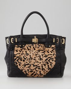 Anyone who knows me will understand:  Leopard-Print Calf Hair Zoe Tote Deux Bag by Rachel Zoe at Neiman Marcus.