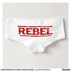 rebel Redneck southern dixie boyshorts underwear