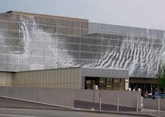 Technorama facade, Ned Khan #motion #wind #analog #visualization