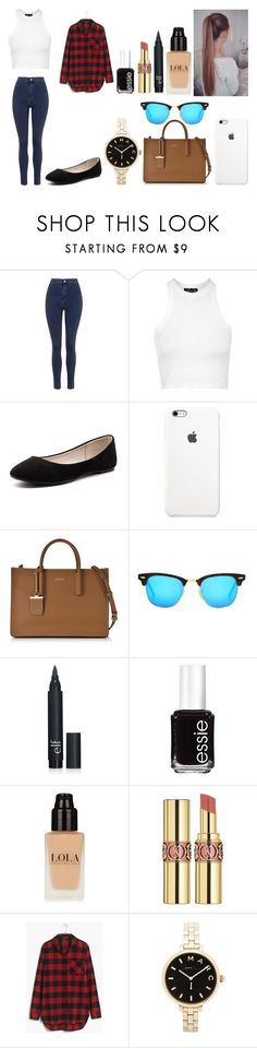 """""""Untitled #470"""" by kalieh092 on Polyvore featuring Topshop, Verali, DKNY, Ray-Ban, Essie, Yves Saint Laurent, Madewell, Marc by Marc Jacobs, women's clothing and women's fashion"""