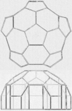 Plans for a simple geodesic greenhouse or shed. Plans for a simple geodesic greenhouse or shed. Lean To Greenhouse, Greenhouse Plans, Greenhouse Wedding, Dome Geodesic, Dome Structure, Permaculture Design, Dome House, Building A Shed, Home Design Plans