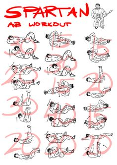 jaidrawsthings:    Project 365 - Day 221  Spartan Abs Workout  I found this workout on the internet and decided to make it into a poster so that I can remember it better. It might also be in handy for those looking for a good workout burn.